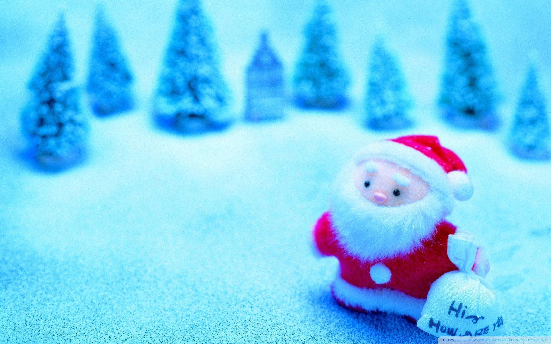 Cute Santa Christmas Desktop Backgrounds Free Wallpaper