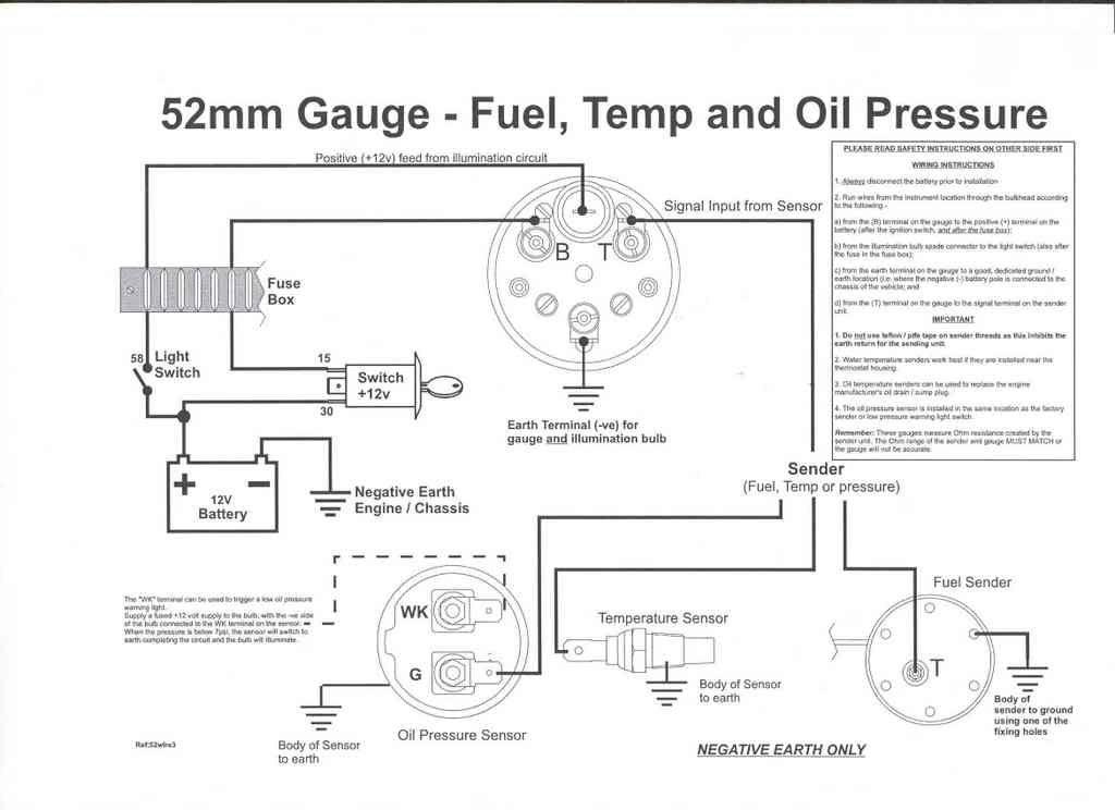 Vdo Oil Pressure Sending Unit Wiring Diagram Wiring Schematic Diagram