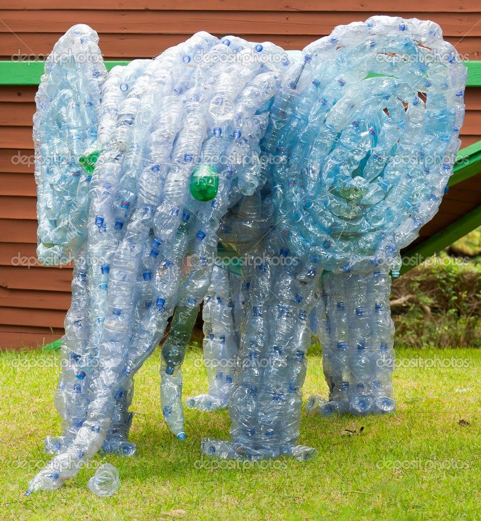 How to recycle recycled plastic bottle sculptures earth for Art made from plastic bottles