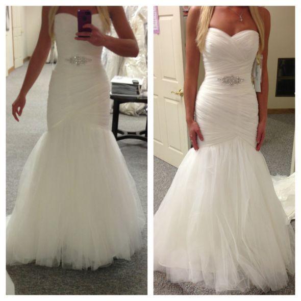 Asymmetrically Draped Net Morilee Bridal