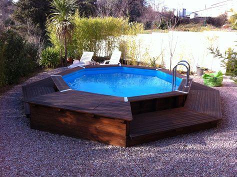 Piscine hors sol en bois pas cher en 2019 habillage - Comment faire une piscine pas cher ...
