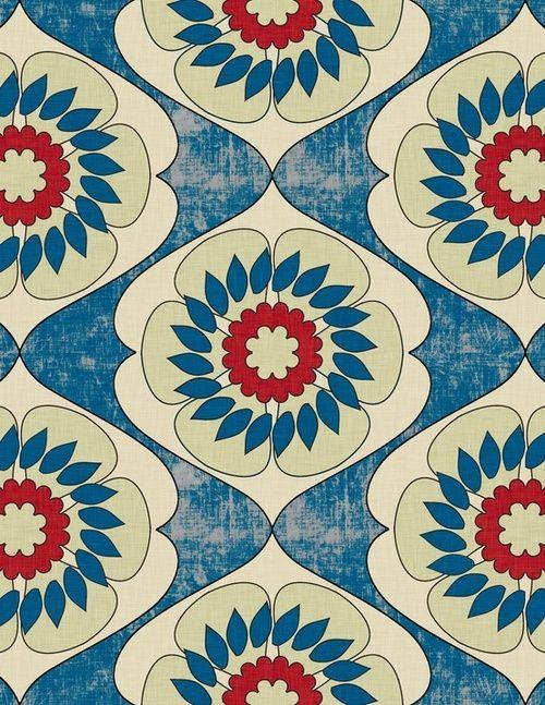 Blue Flower Pattern Tumblr