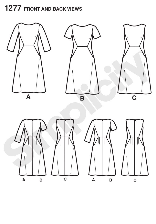 Simplicity Dress 1277 | Sewing | Pinterest | Patrones
