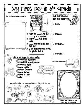 A back-to-school activity booklet for 5th Grade. Print