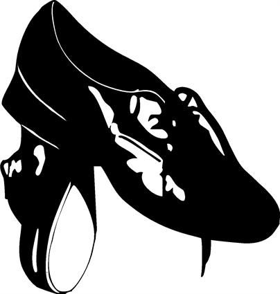 Black And White Clogging Shoes