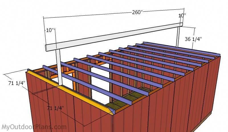 Fitting the top ridge playhousebuildingplans Roof plan