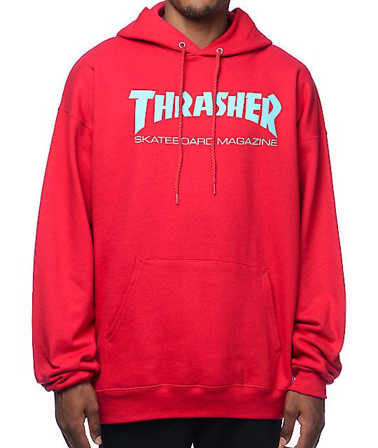 3b6cc5cd31a9 Thrasher Skate Mag Radical Red Pullover Hoodie in 2019