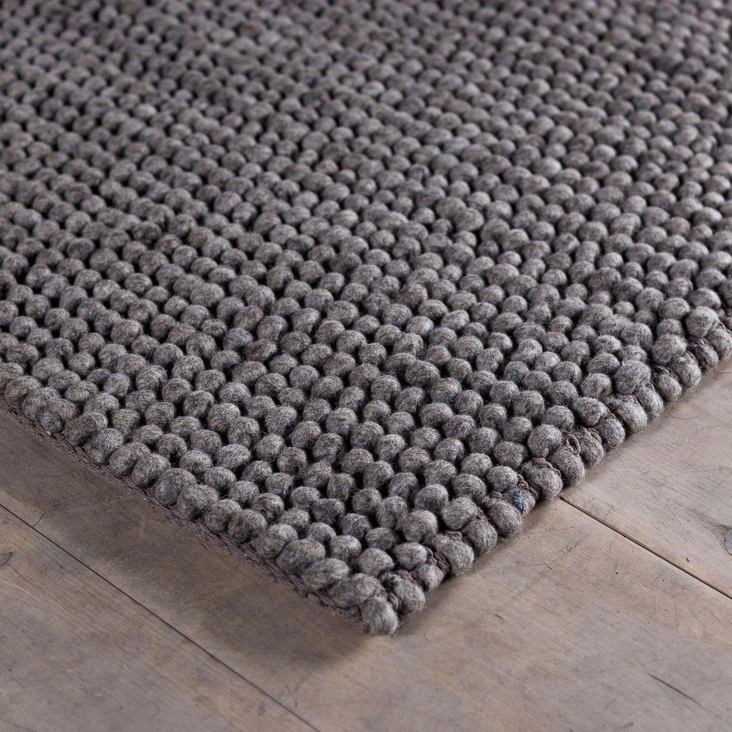 Bubble Weave Rug   Medium Grey