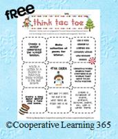 Classroom Freebies: Winter Themed Tic-Tac-Toe