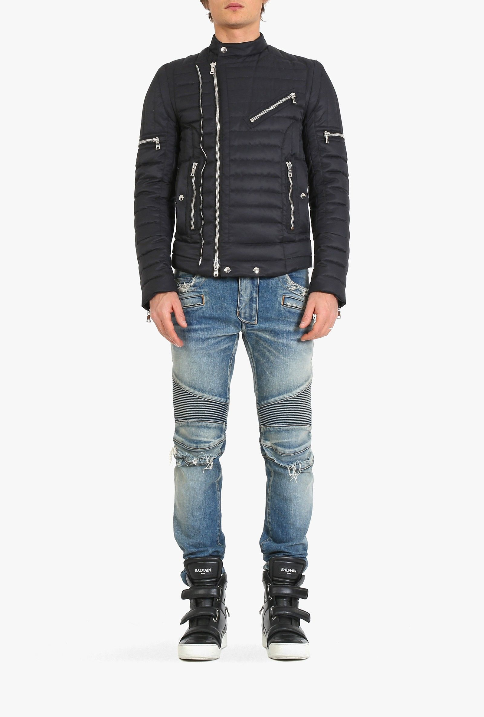 Balmain - Quilted down-filled jacket - Men's down jackets | M ... : quilted down jacket mens - Adamdwight.com