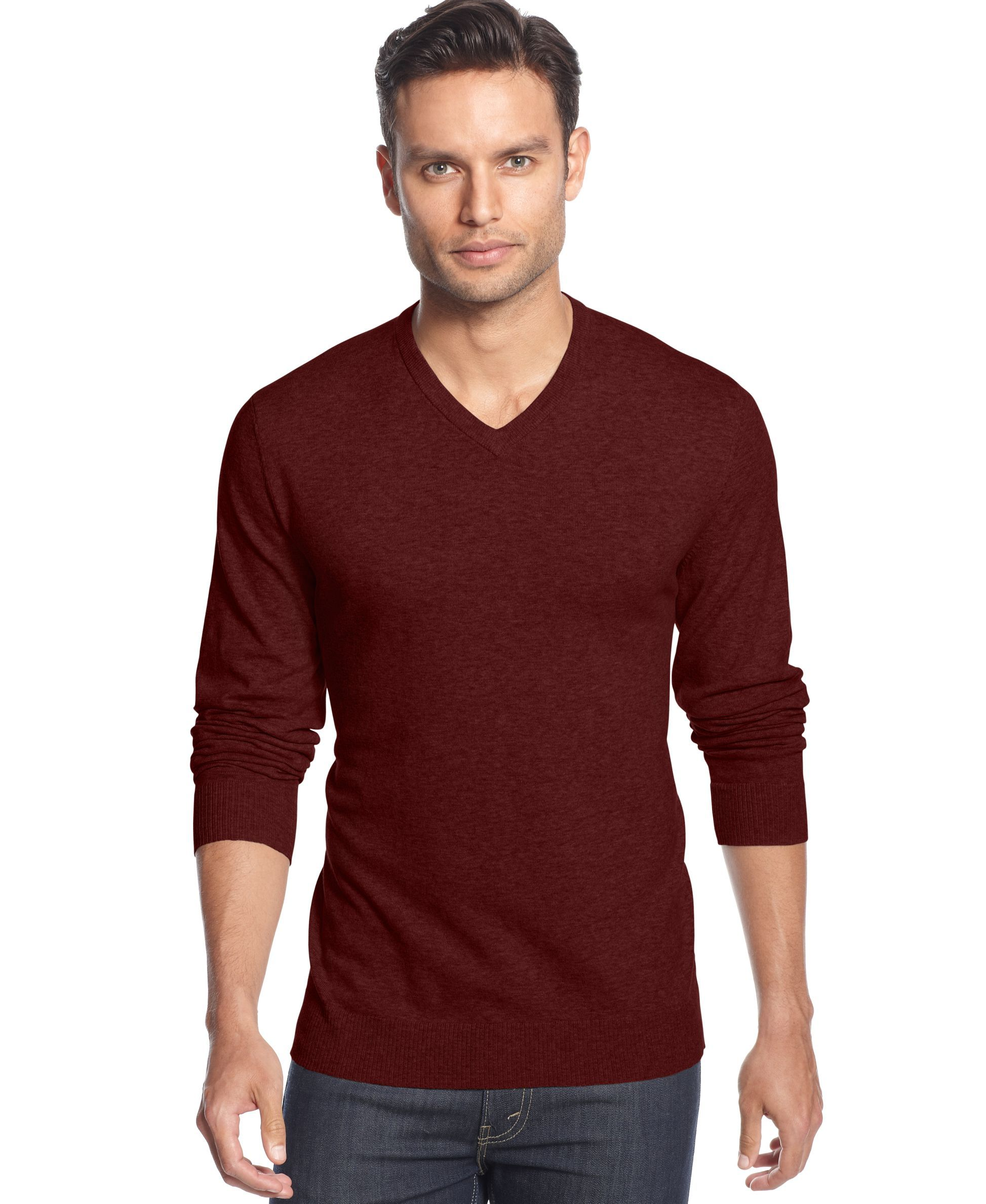 dfab305416f Men's V-Neck Sweater, Created for Macy's | Gifts | Men's v neck ...