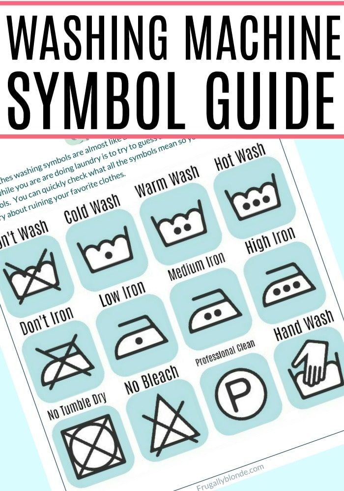 Washing Machine Symbols Guide Pinterest