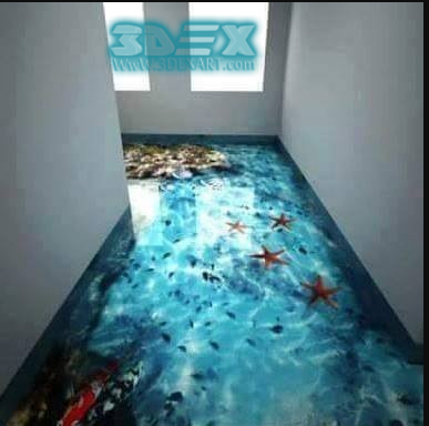 Awesome 3d Epoxy Floor Coating For Hallway In Restaurants