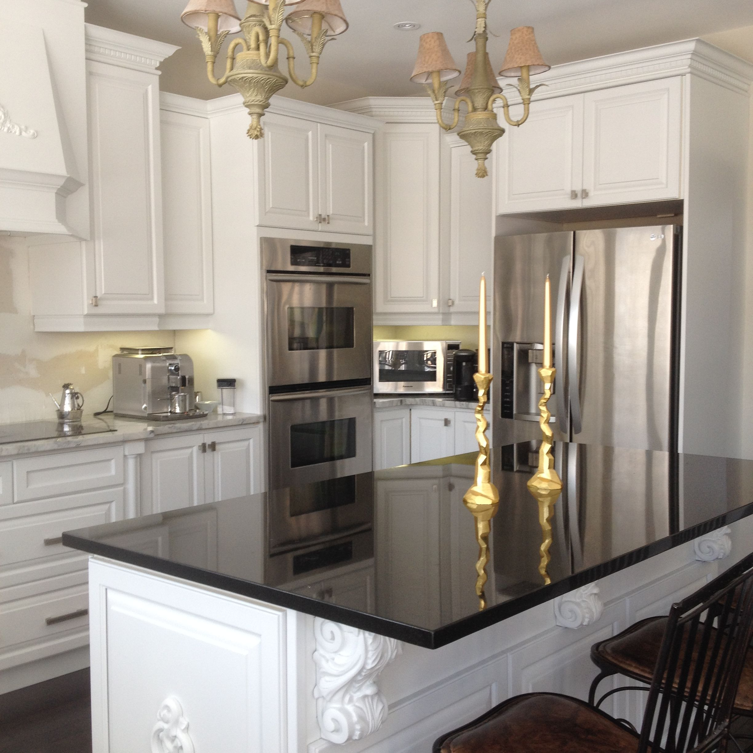 Spray Painted Kitchen Cabinets Done In Sherwin Williams Kem Aqua