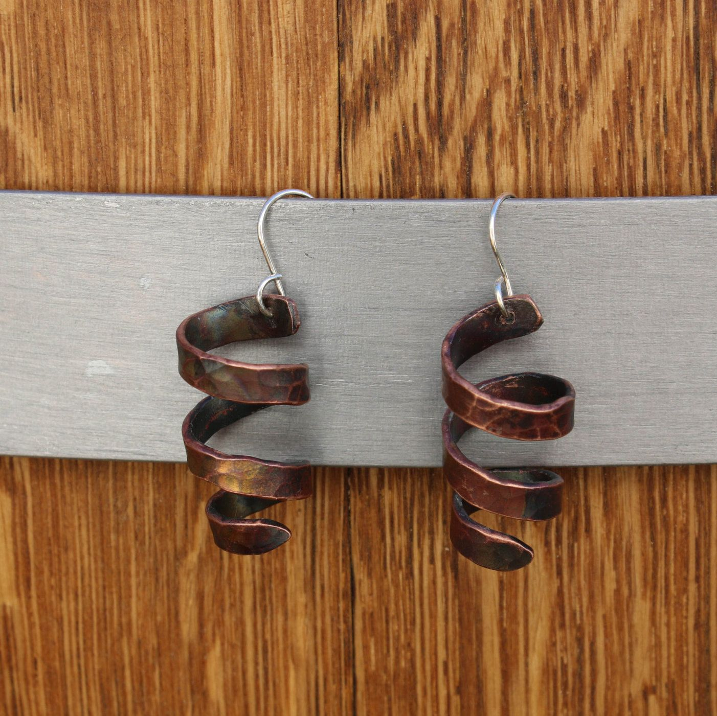 Copper Stairway - 8 gauge copper wire fired and folded to form a ...