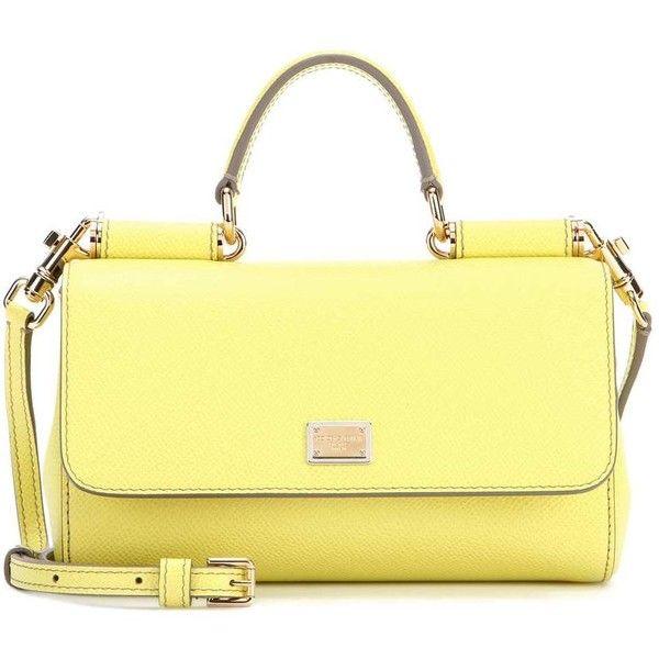 Dolce   Gabbana Mini Sicily Leather Shoulder Bag (£725) ❤ liked on Polyvore 16fcaceaadddb