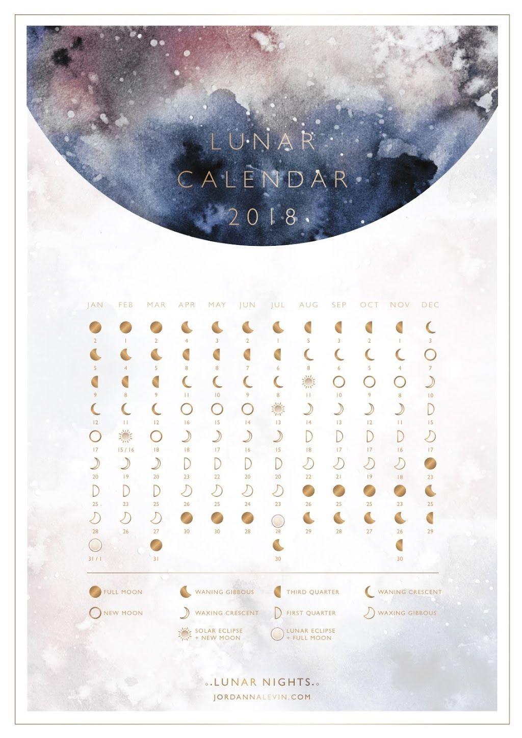 Homemade Calendar 2018 : Lunar calendar calendario lunare del homemade