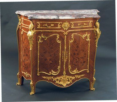 1855 decor attribue a francois linke 1855 1946 meuble d 39 appui de styl - Meuble style louis xv ...