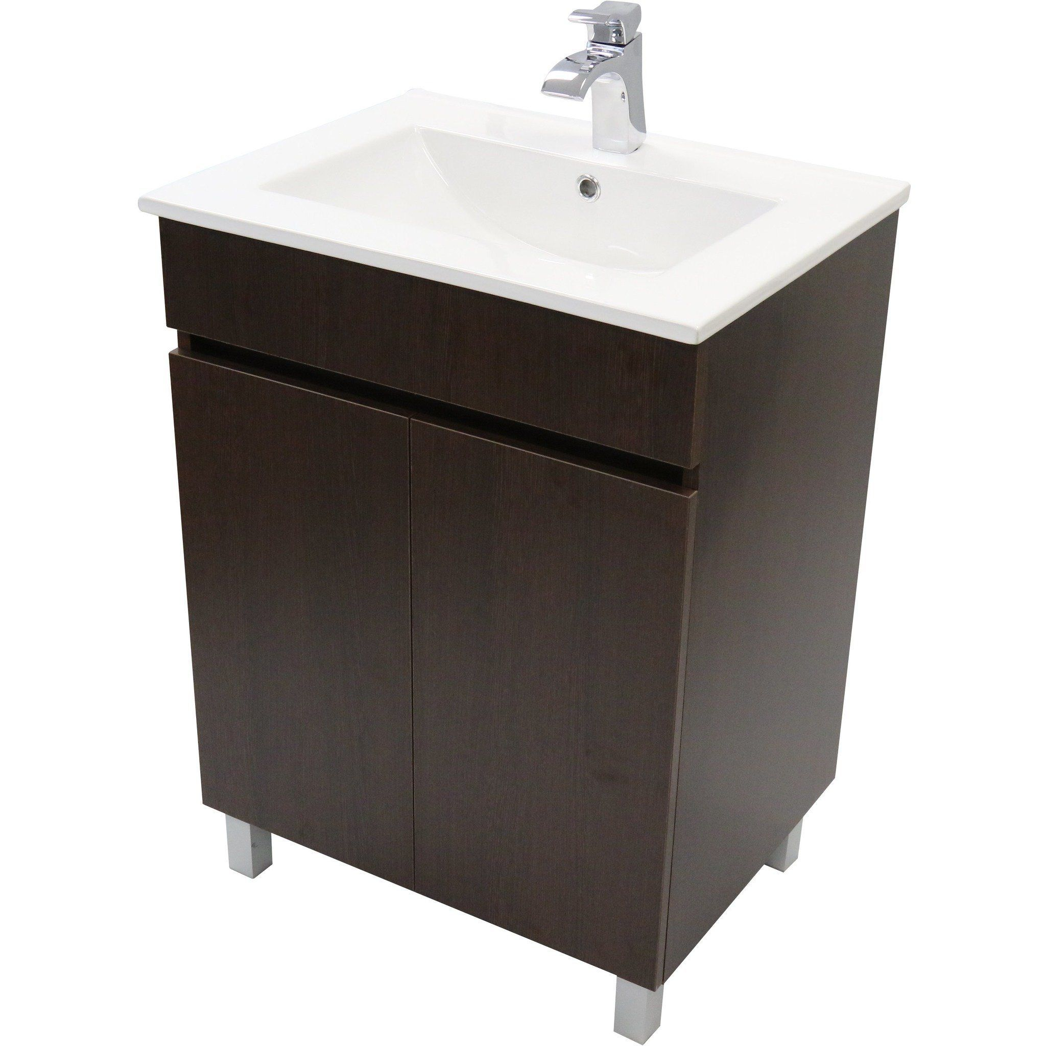 Eco 24 Standing Bathroom Vanity Cabinet Set Bath Furniture With