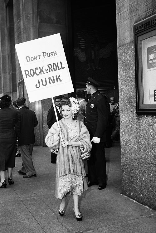 Rock n Roll protester ...