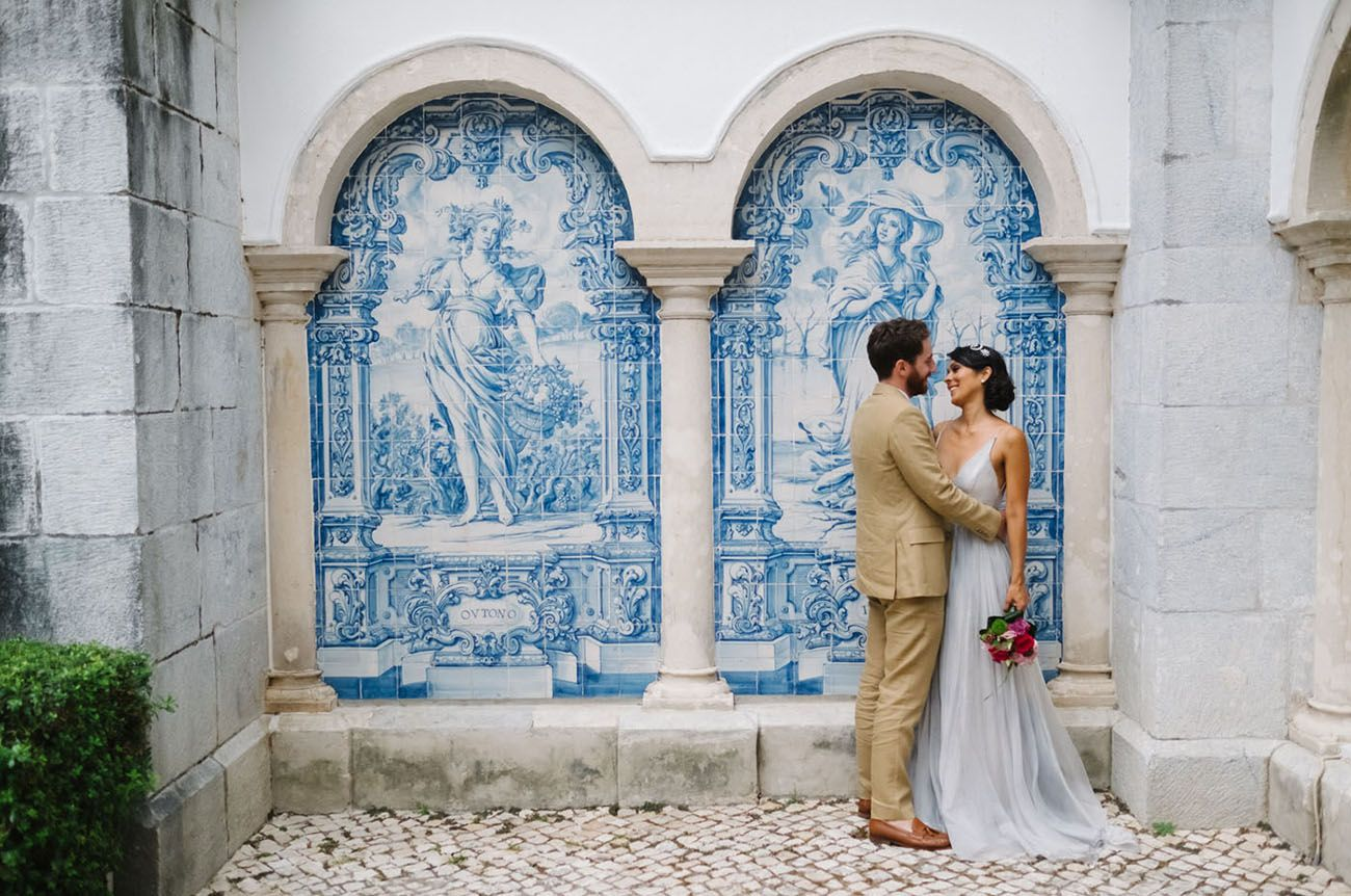 Boldly in Love: A Modern Elopement at Portugal's Colorful Pena Palace |  Green Wedding Shoes | Portugal wedding venues, Portugal wedding, Lisbon  wedding