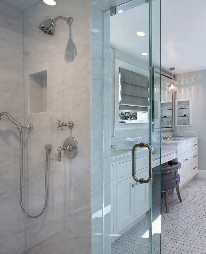 Shower Marble Slab Shower Walls Ceiling And Bench Are Carrara