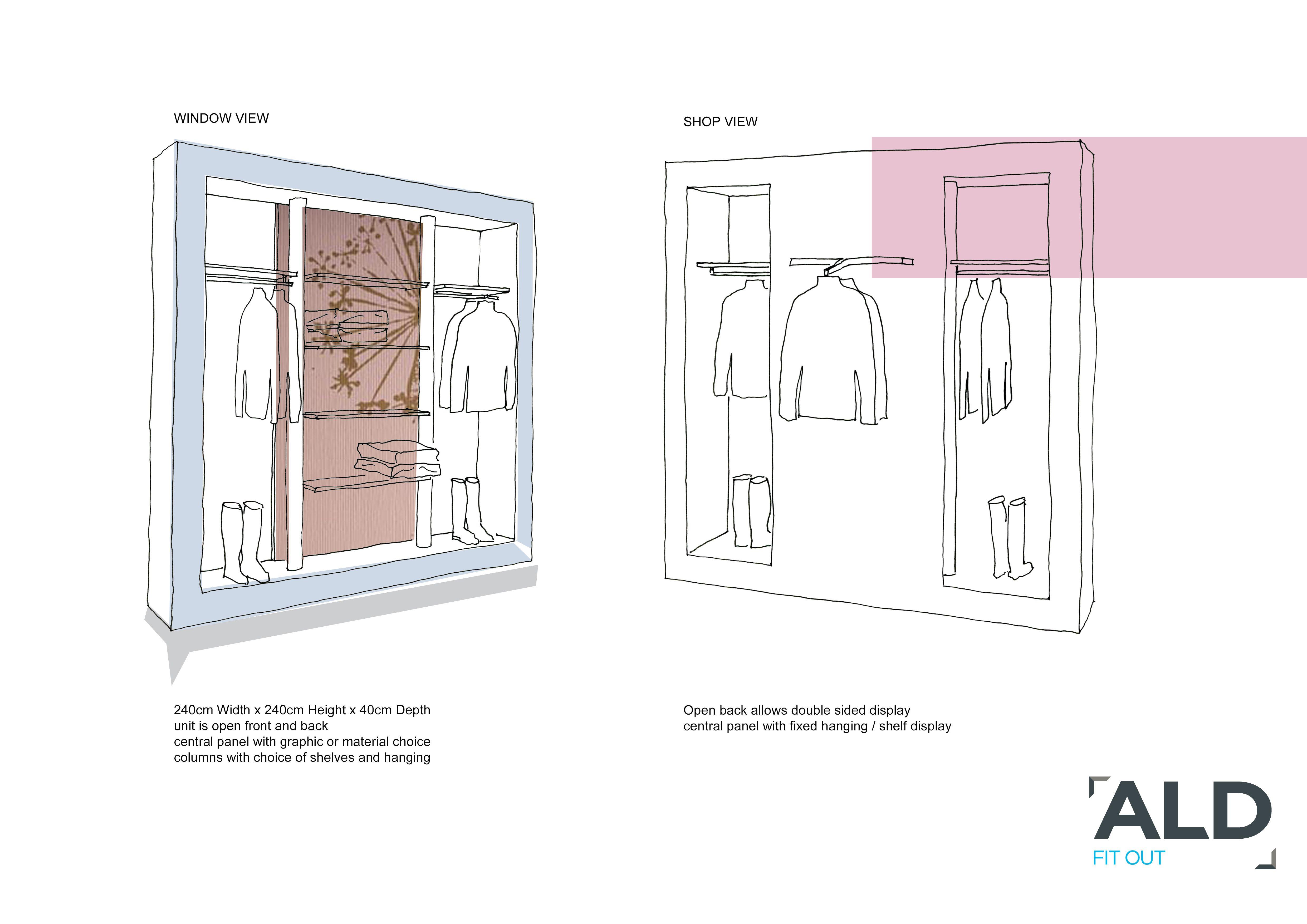 Sketch Design Proposal Boutique Window Display | Uc760u3160 | Pinterest | Boutique Window Displays ...