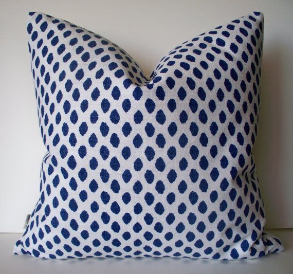 Navy Dots Pillow Indigo Blue Dots Pillow Cover Lacefield Sahara Midnight Ikat Dot Pillow Cover