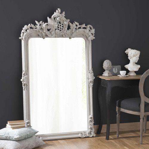 Maison Du Monde Miroir En Bois Et Résine Gris H 160 Cm Isaure 299