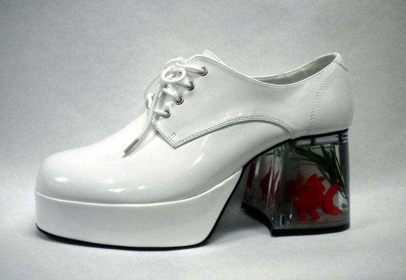 e6f6d1b8318e5c White Platform Pimp 70s Disco Mens Shoes Goldfish
