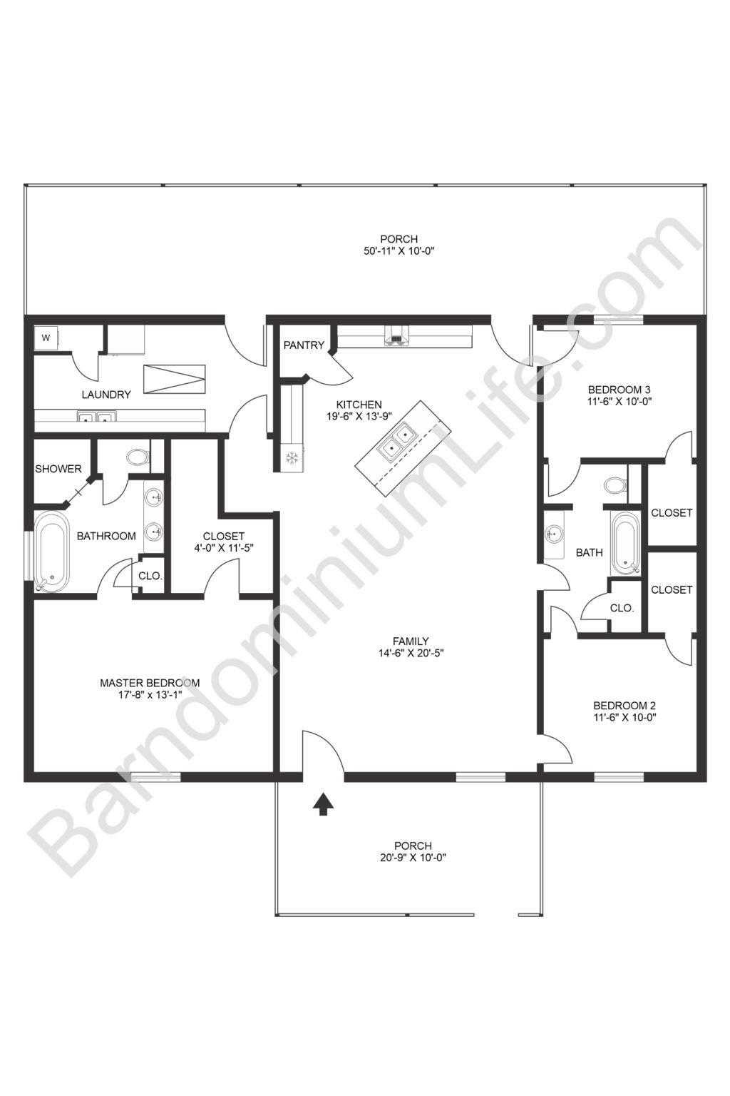 Inspiring Open Concept Barndominium Floor Plans In 2020 Barndominium Floor Plans Barn Homes Floor Plans House Layout Plans