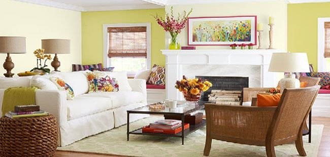living room green color schemes