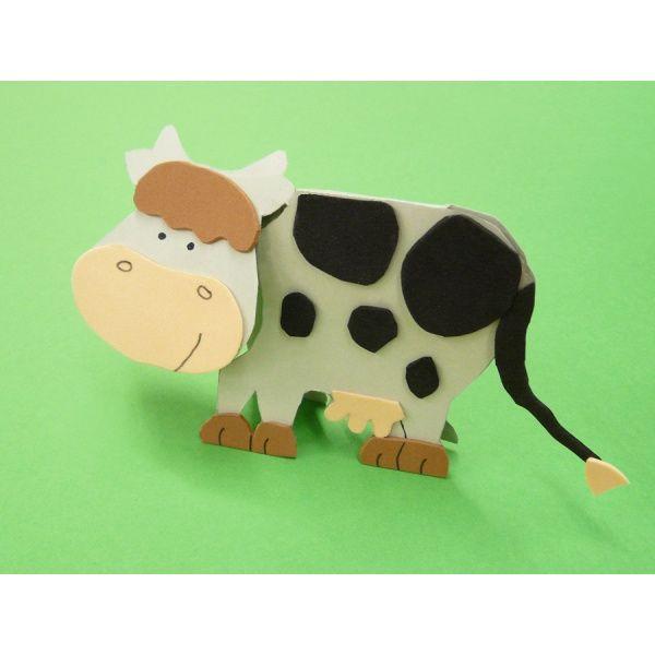 Mit Bastelpapier Eine Kuh Basteln Die Bastelanleitung Gibts Gratis Kindergeburtstag Basteln Tiere Kindergeburtstag Basteln Basteln