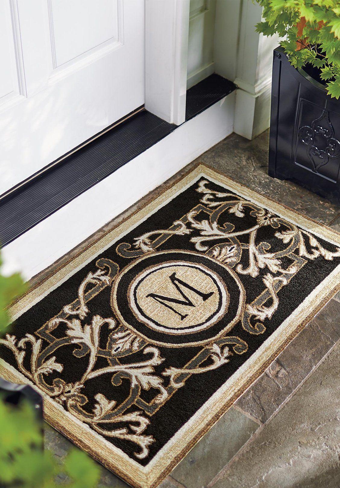 Augustina Monogrammed Door Mat Frontgate Monogram Door Mat Door Mat Outdoor Door Mat