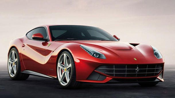 Ferrari F12 Berlinetta has a V-12 powered coupe that can hit 60 mph in 3.1 seconds! That's fast!