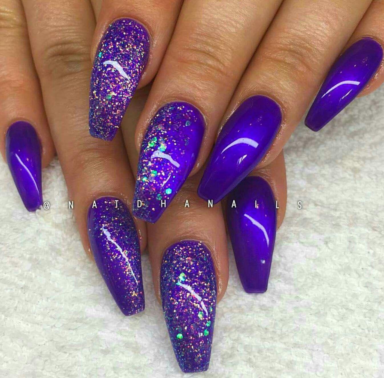 pretty indigo purplish-blue nailspirations