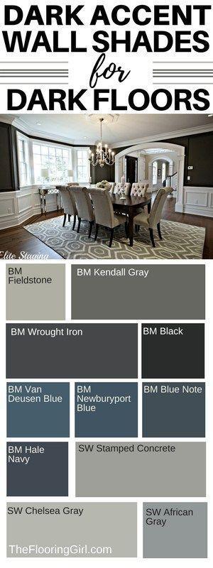 Best Shades Of Paint For Dark Hardwood Floors Dark Hardwood Floors Living Room Dark Accent Walls Hardwood Floors Dark