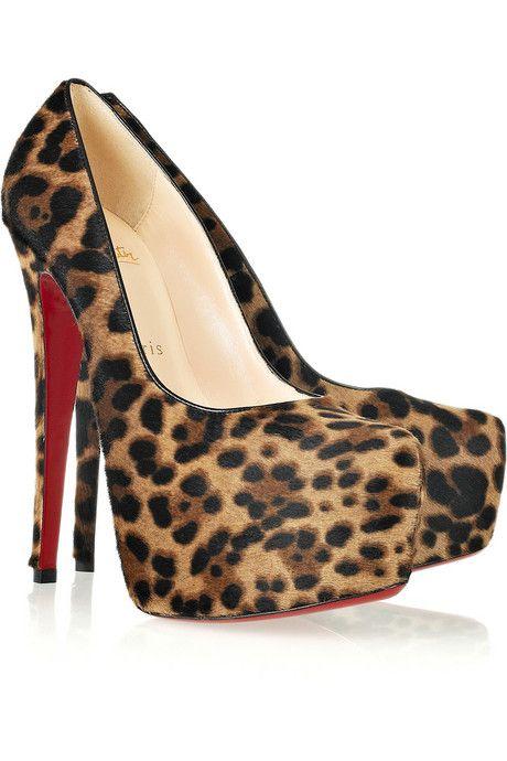 0dd5f26f71f0 Women's High Heel Shoes: Christian Louboutin Goes Fashion Ferocious with Daffodil  160 Calf Hair Platform High Heel Shoes