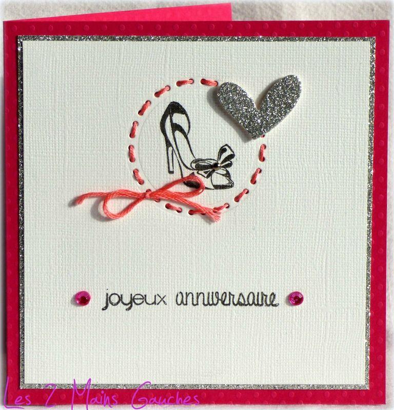 carte d 39 anniversaire femme avec escarpin cartes anniversaire pinterest anniversaire femme. Black Bedroom Furniture Sets. Home Design Ideas
