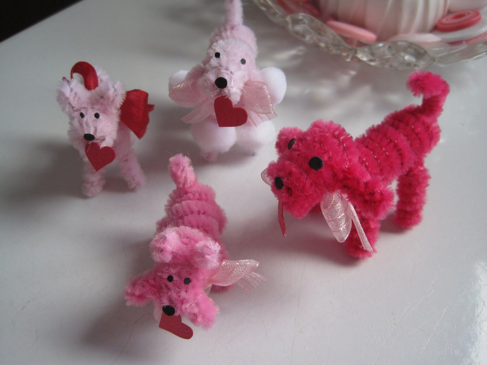 Chenille Pipe Cleaner Dogs