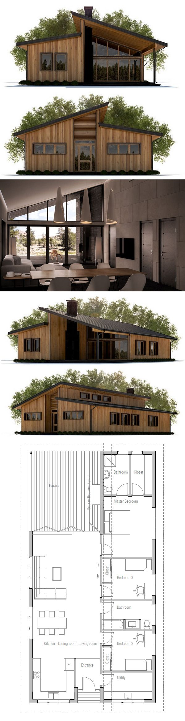 Small House Plan Hogar Dulce Hogar Pinterest Hus