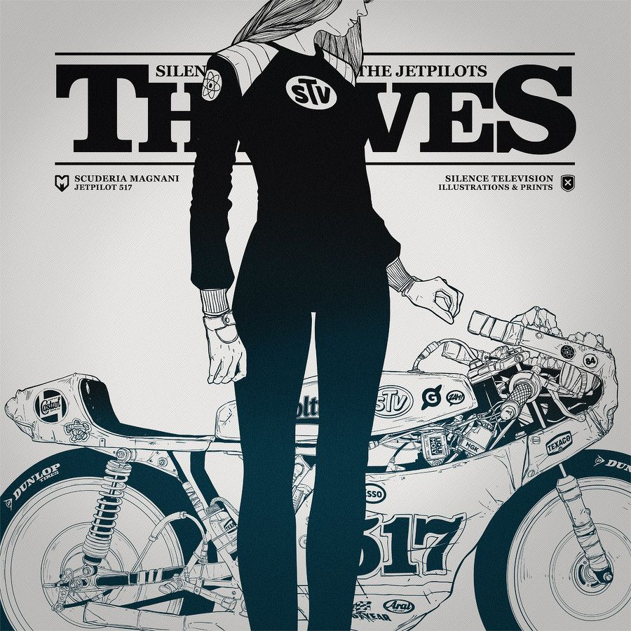 THIEVES motorcycle illustration