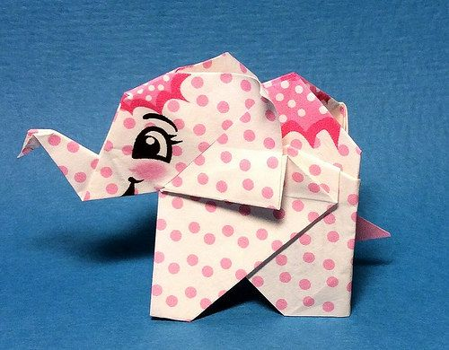 How to make : Origami Elephant (Fumiaki Kawahata) - YouTube | 390x500