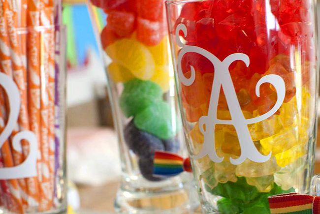 Rainbow party Alexis is 2 Rainbow theme Rainbows and Rainbow parties