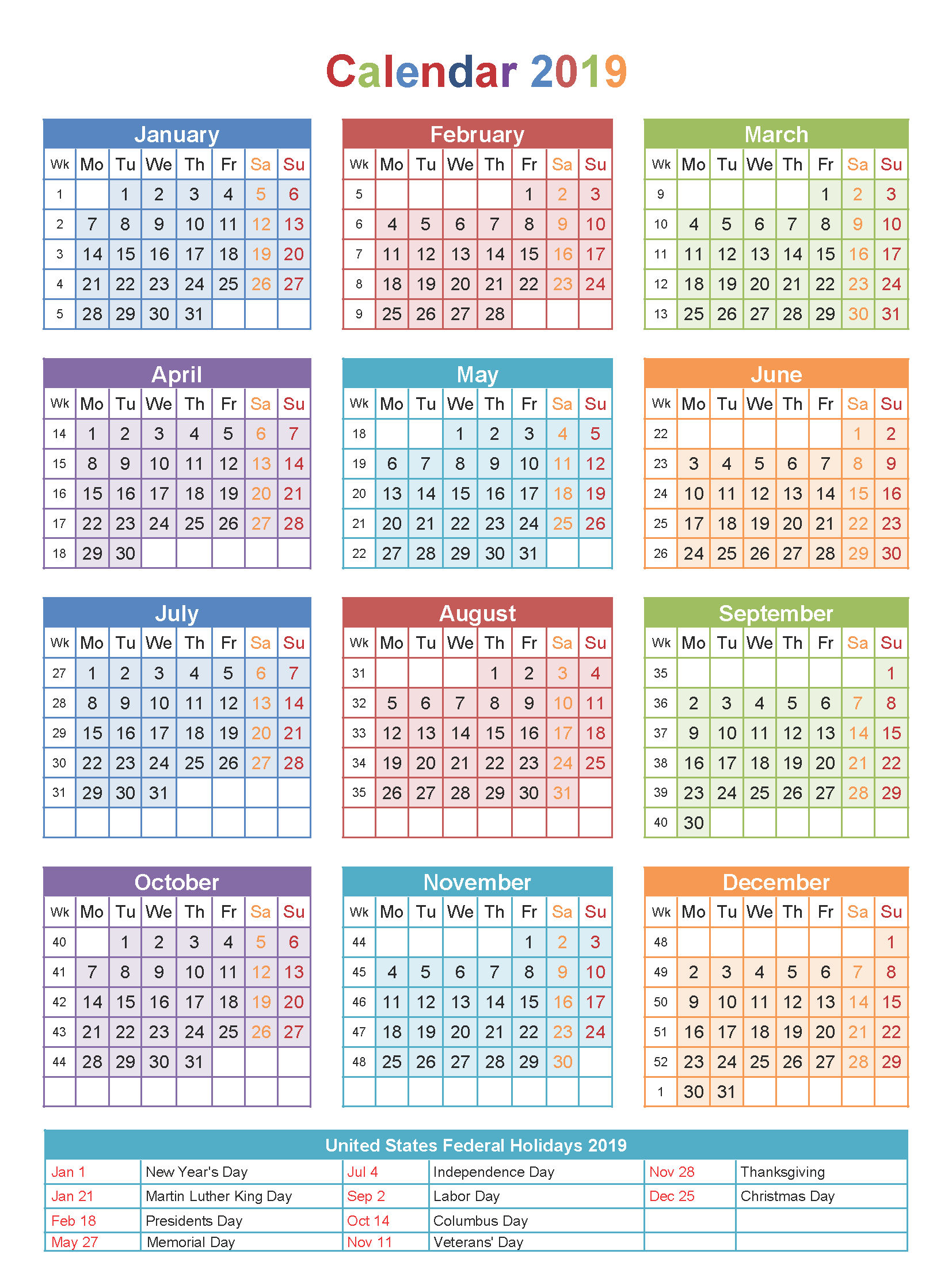 printable 2019 calendar with indian holidays festivals free