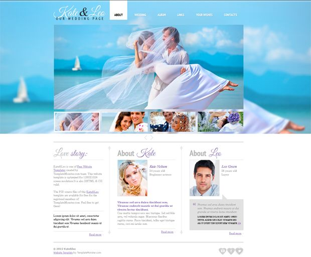 Wedding Invitation Website Templates