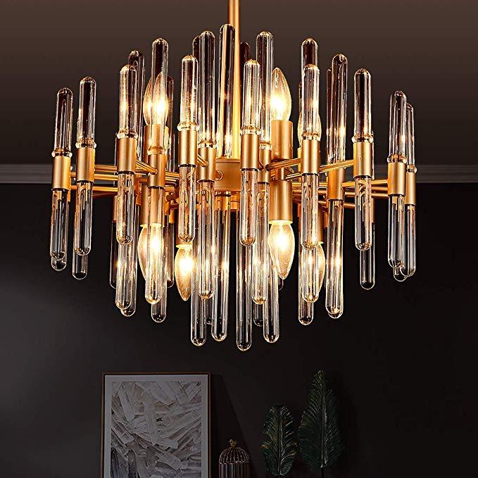 Tzoe Modern Chandeliers Crystal Chandelier 8 Light Round Pendant