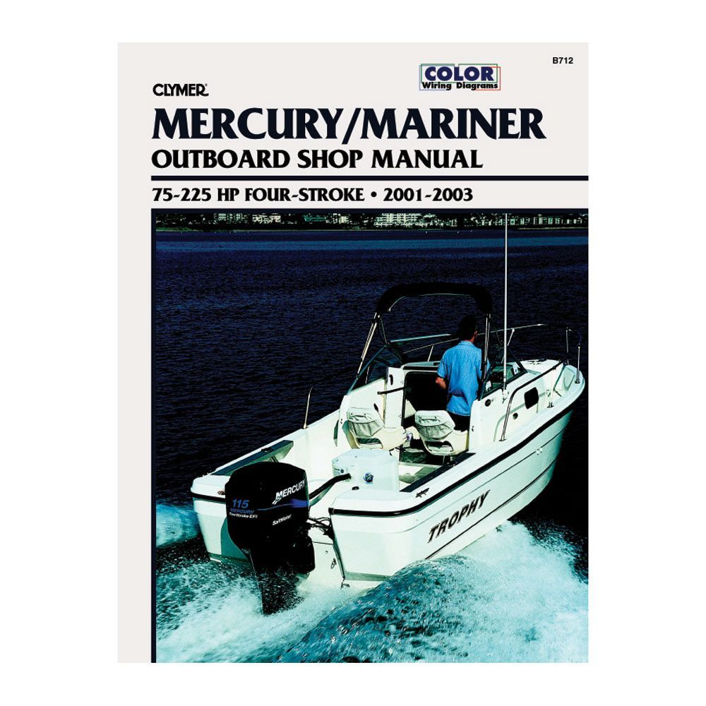Clymer Mercury/Mariner 75-225 HP 4-Stroke Outboards (2001-2003)