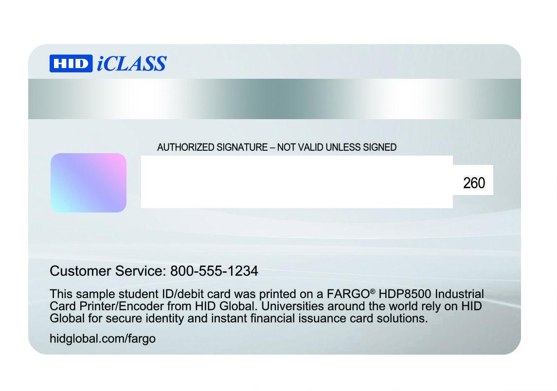 Reverso de tarjeta de pvc, para imprimir con impresoras Fargo ...