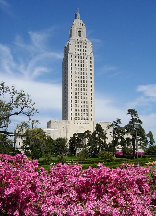 The towering louisiana state capitol building in baton rouge the louisiana usa sciox Choice Image